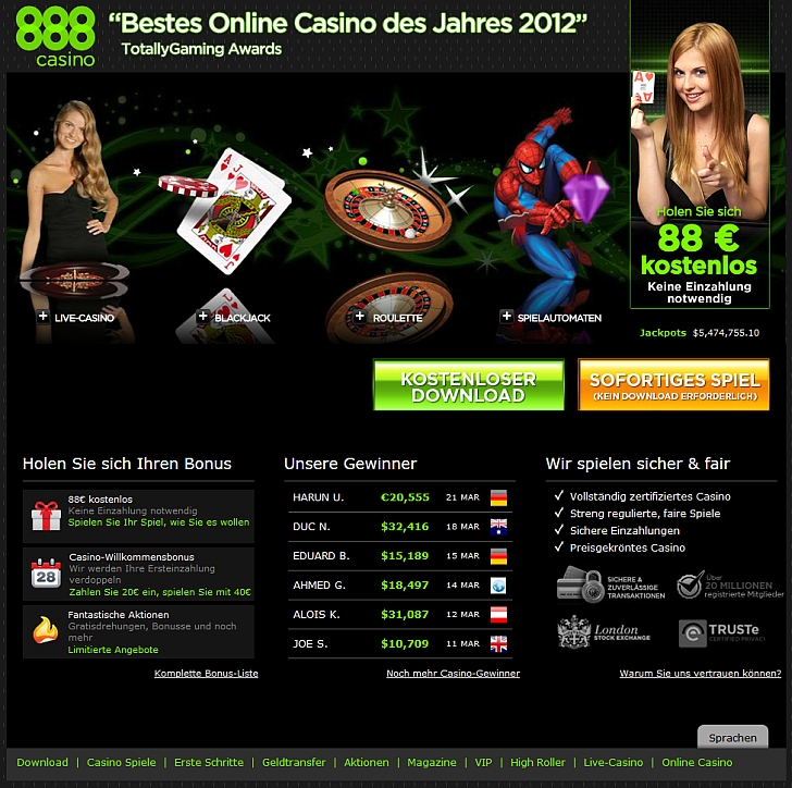 888 casino aktionscode spielen