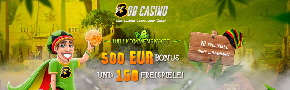 Bob Casino Bonus Banner