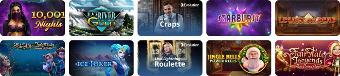 Casino Room beliebte Spiele
