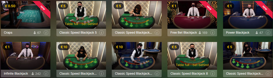 Casino Room Live Blackjack Vorschau