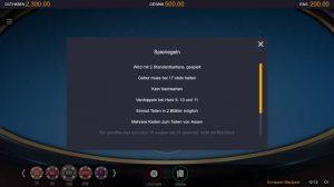 CasinoHeroes European Blackjack Vorschau Regeln