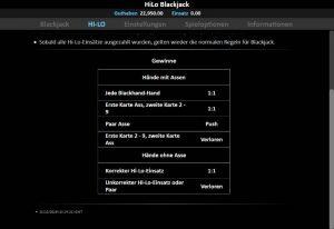CasinoHeroes HiLo Blackjack Vorschau Regeln