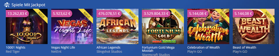 CasinoHeroes Jackpot Spiele