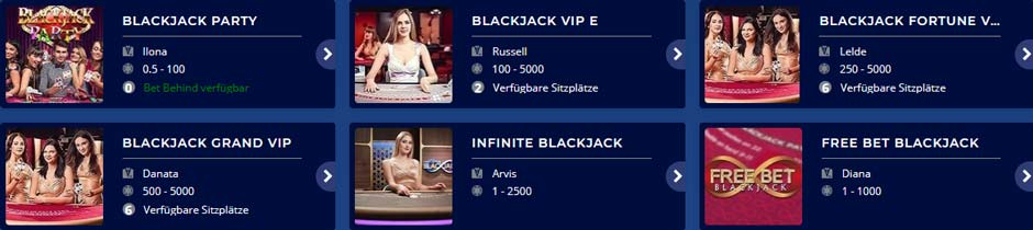 CasinoHeroes Live Blackjack