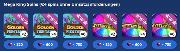 CasinoHeroes Mega King Spins im RubyStore