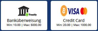 CasinoHeroes Zahlungsmethoden