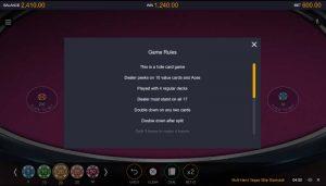 CasinoRoom Vegas Strip Blackjack Regeln